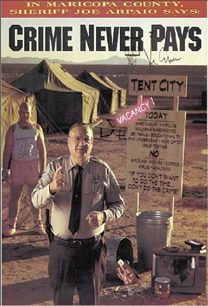 Sheriff Joe Arpaio Tent City Arizona